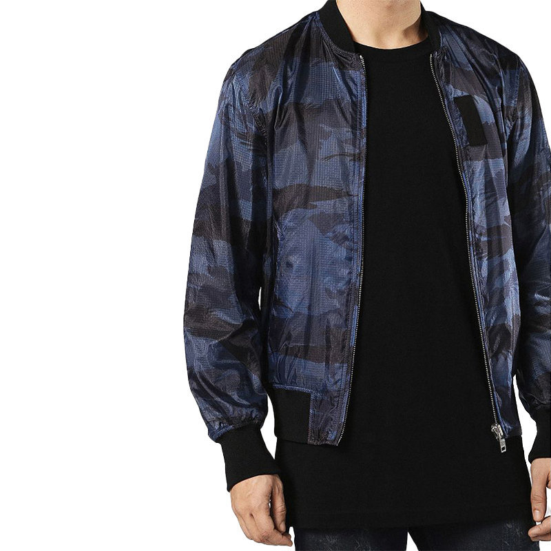 diesel j town mens bomber reversible casual ribbed cuffs regular fit jacket