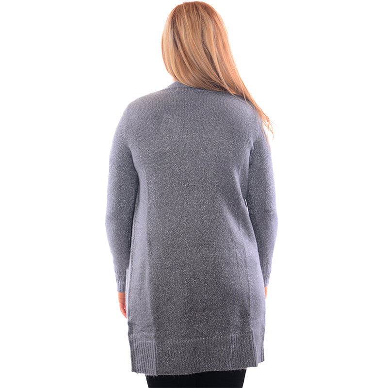 zara womens open glittery cardigan ladies knit casual jumper long sleeve sweate