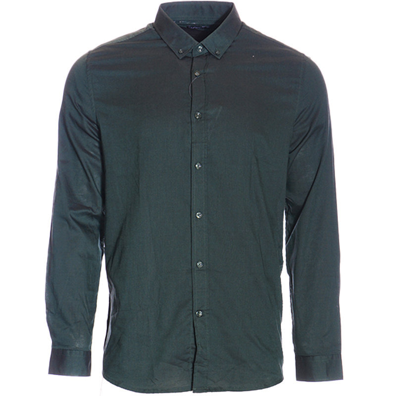 mens plain shirt formal regular fit casual cotton long sleeve oxford work smart