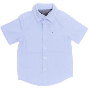tommy boys shirt short sleeve plain kids school party top casual cotton 4 5 6 7