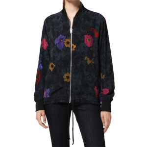 diesel g-maia womens bomber jacket casual jumper relax floral print cardigan