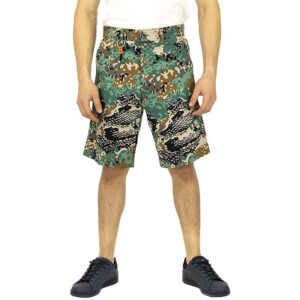diesel p frank 0eavd mens shorts regular fit summer relax casual camou half pant 1 of 6